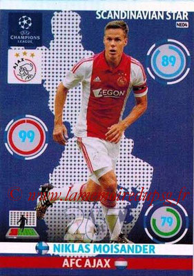 2014-15 - Adrenalyn XL champions League N° NE04 - Niklas MOISANDER (AFC Ajax) (Scandinavian Star)