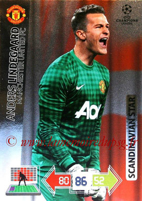 2012-13 - Adrenalyn XL champions League N° 358 - Anders LINDEGAARD (Manchester United FC) (Scandinavian Star)