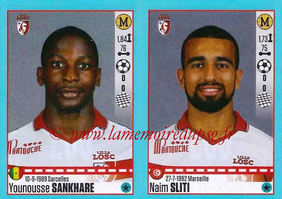 2016-17 - Panini Ligue 1 Stickers - N° 288 + 289 - Younousse SANKHARE + Naim SLITI (Lille)