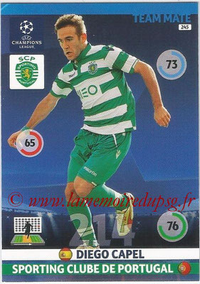 2014-15 - Adrenalyn XL champions League N° 245 - Diego CAPEL (Sporting Club de Portugal)