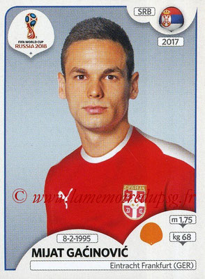 2018 - Panini FIFA World Cup Russia Stickers - N° 428 - Mijat GACINOVIC (Serbie)