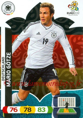 Panini Euro 2012 Cards Adrenalyn XL - N° 036 - Mario GÖTZE (Allemagne)