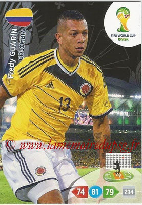 2014 - Panini FIFA World Cup Brazil Adrenalyn XL - N° 081 - Fredy GUARIN (Colombie)