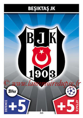 2017-18 - Topps UEFA Champions League Match Attax - N° 325 - Logo Besiktas JK (Club Badge)