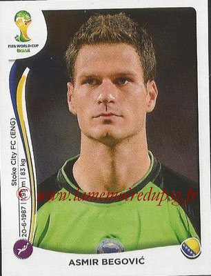 2014 - Panini FIFA World Cup Brazil Stickers - N° 433 - Asmir BEGOVIC (Bosnie Herzegovine)