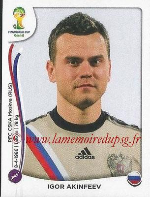 2014 - Panini FIFA World Cup Brazil Stickers - N° 604 - Igor AKINFEEV (Russie)