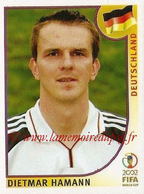 2002 - Panini FIFA World Cup Stickers - N° 322 - Dietmar HAMANN (Allemagne)