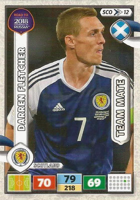 2018 - Panini Road to FIFA World Cup Russia Adrenalyn XL - N° SCO12 - Darren FLETCHER (Ecosse) (UK Version)