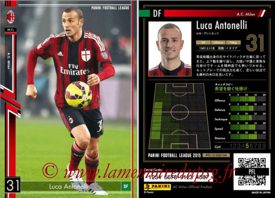 Panini Football League 2015 - PFL12 - N° 002 - Luca ANTONELLI (Milan AC)