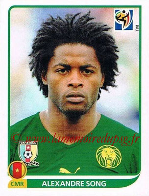 2010 - Panini FIFA World Cup South Africa Stickers - N° 399 - Alexandre SONG (Cameroun)