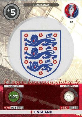 Panini Euro 2016 Cards - N° 082 - Logo Angleterre (Team Logo)