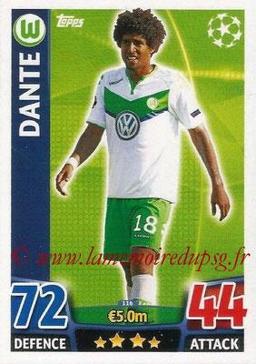 2015-16 - Topps UEFA Champions League Match Attax - N° 116 - DANTE (VFL Wolfsburg)