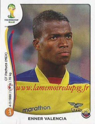 2014 - Panini FIFA World Cup Brazil Stickers - N° 364 - Enner VALENCIA (Equateur)