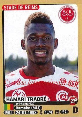 2015-16 - Panini Ligue 1 Stickers - N° 370 - Hamari TRAORE (Stade de Reims)