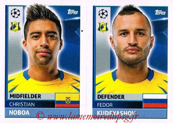 2016-17 - Topps UEFA Champions League Stickers - N° QFK 7-8 - Fëdor KUDRJASOV + Christian NOBOA (FC Rostov)
