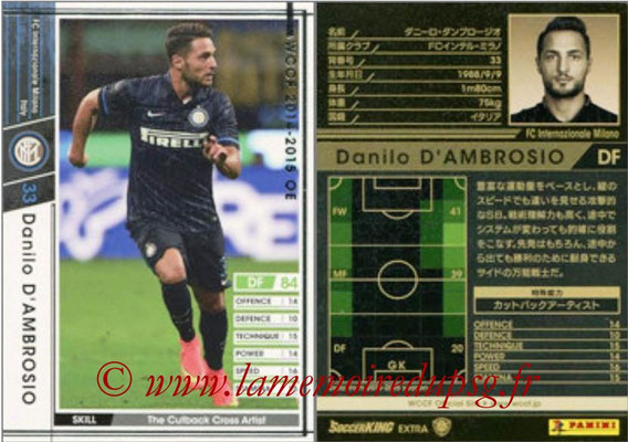 2014-15 - WCCF - N° EXT04 - Danilo D'AMBROSIO (FC Inter Milan) (Extra)