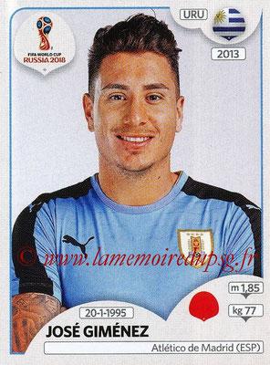 2018 - Panini FIFA World Cup Russia Stickers - N° 098 - José GIMENEZ (Uruguay)