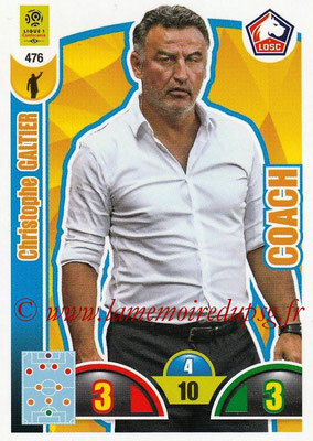 2018-19 - Panini Adrenalyn XL Ligue 1 - N° 476 - Christophe GALTIER (Lille) (Coach)