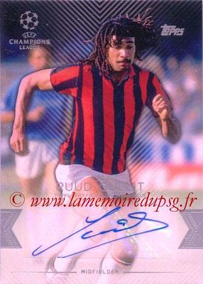 2015-16 - Topps UEFA Champions League Showcase Soccer - N° CLA-RG - Ruud GULLIT (Milan AC) (Base Autographs Cards)