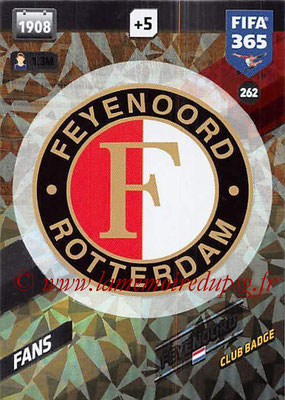 2017-18 - Panini FIFA 365 Cards - N° 262 - Logo Feyenord (Club Badge)