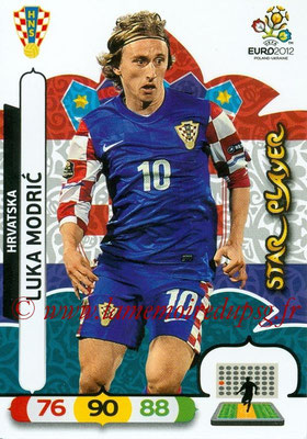Panini Euro 2012 Cards Adrenalyn XL - N° 107 - Luka MODRIC (Croatie) (Star Player)