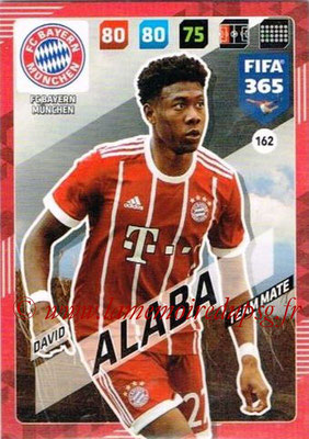 2017-18 - Panini FIFA 365 Cards - N° 162 - David ALABA (FC Bayern Munich)
