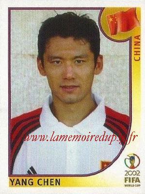 2002 - Panini FIFA World Cup Stickers - N° 221 - Yang CHEN (Chine)