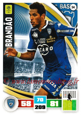 2016-17 - Panini Adrenalyn XL Ligue 1 - N° 034 - BRANDAO (Bastia)