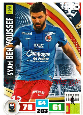 2016-17 - Panini Adrenalyn XL Ligue 1 - N° 058 - Syam BEN YOUSSEF (Caen)