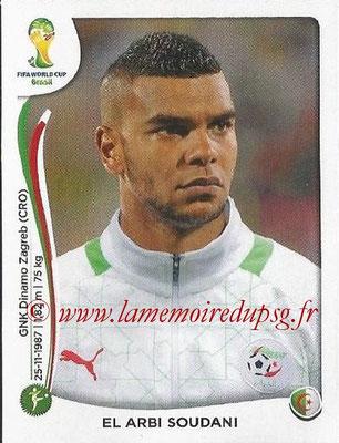 2014 - Panini FIFA World Cup Brazil Stickers - N° 600 - Elarbi SOUDANI (Algérie)