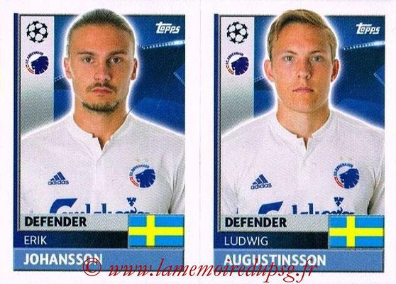 2016-17 - Topps UEFA Champions League Stickers - N° QFD 5-6 - Ludwig AUGUSTINSSON + Erik JOHANSSON (FC Copenhague)