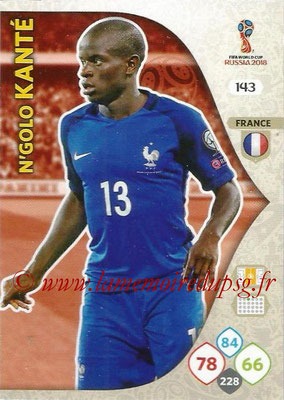 2018 - Panini FIFA World Cup Russia Adrenalyn XL - N° 143 - N'Golo KANTE (France)
