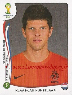 2014 - Panini FIFA World Cup Brazil Stickers - N° 144 - Klass-Jan HUNTELAAR (Pays-Bas)