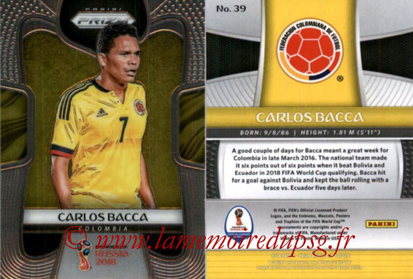 2018 - Panini Prizm FIFA World Cup Russia - N° 039 - Carlos BACCA (Colombie)