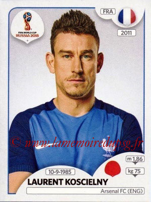 2018 - Panini FIFA World Cup Russia Stickers - N° 200 - Laurent KOSCIELNY (France)