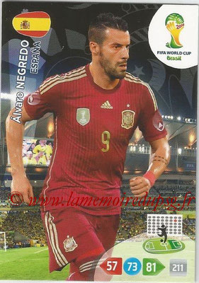 2014 - Panini FIFA World Cup Brazil Adrenalyn XL - N° 154 - Alvaro NEGREDO (Espagne)