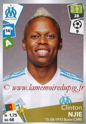 2017-18 - Panini Ligue 1 Stickers - N° 224 - Clinton NJIE (Marseille)