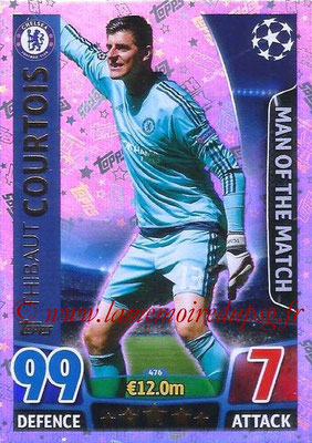 2015-16 - Topps UEFA Champions League Match Attax - N° 476 - Thibaut COURTOIS (Chelsea FC) (Man of the Match)