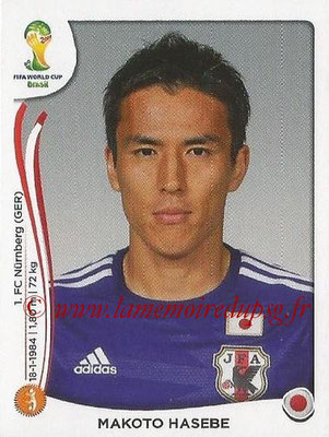 2014 - Panini FIFA World Cup Brazil Stickers - N° 252 - Makoto HASEBE (Japon)