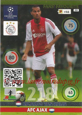 2014-15 - Adrenalyn XL champions League N° 253 - Ricardo VAN RHIJN (AFC Ajax) ( Fans' Favourite)