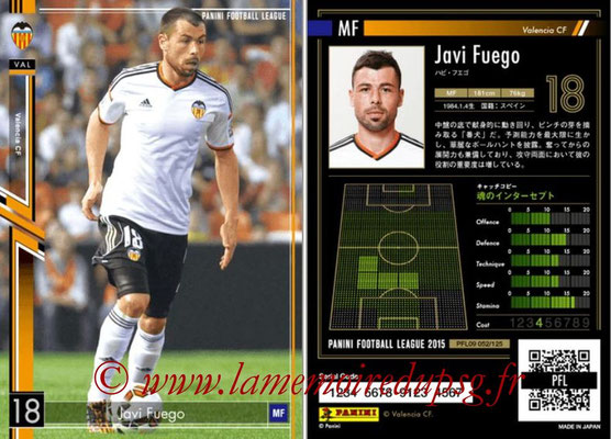 Panini Football League 2015 - PFL09 - N° 052 - Javi FUEGO (FC Valence)