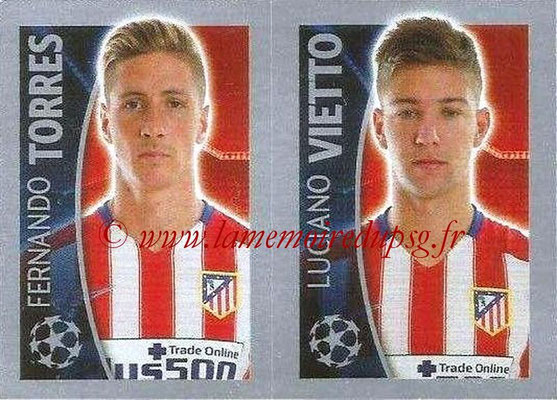 2015-16 - Topps UEFA Champions League Stickers - N° 190 - Fernando TORRES + Luciano VIETTO  (Club Atlético de Madrid)