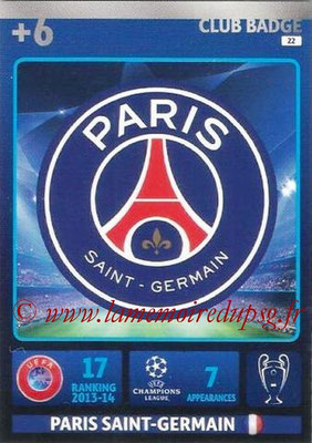 2014-15 - Adrenalyn XL champions League N° 022 - Logo Paris Saint-Germain (Club Badge)