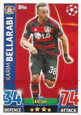2015-16 - Topps UEFA Champions League Match Attax - N° 211 - Karim BELLARABI (Bayer 04 Leverkusen)