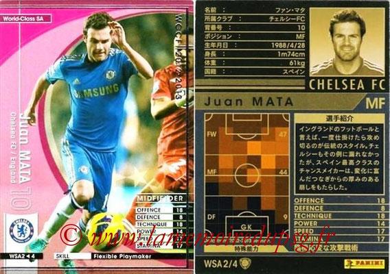 2012-13 - WCCF - N° WSA2 - Juan MATA (Chelsea FC) (World Class SA)