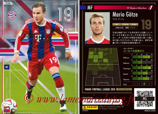 Panini Football League 2015 - PFL12 - N° 067 - Mario GÖTZE (Bayern Munich) (Star)