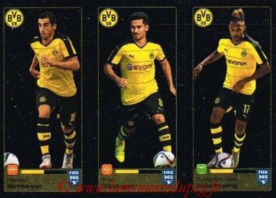2015-16 - Panini FIFA 365 Stickers - N° 510-511-512 - Henrikh MKHITARYAN + Ilkay GÜNDOGAN + Pierre-Emerick AUBANEYANG (Borussia Dortmund)