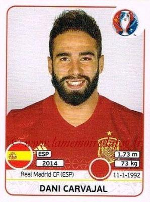 Panini Euro 2016 Stickers - N° 359 - Dani CARVAJAL (Espagne)