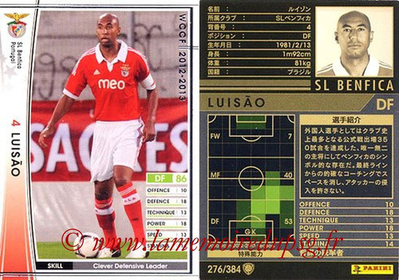 2012-13 - WCCF - N° 276 - LUISAO (SL Benfica)