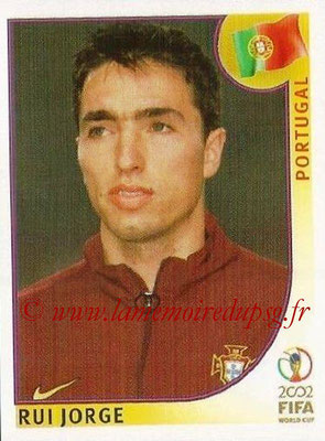 2002 - Panini FIFA World Cup Stickers - N° 302 - Rui JORGE (Portugal)
